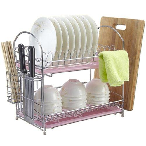Yifom Double panier à vaisselle vidange multifonctionnels de cuisine