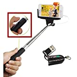 ChargerCity Extendable Handheld Selfie Stick Monopod with Shutter Remote Control Button for iPhone 6 6 plus 5S 5C Samsung Galaxy S5 S6 A5 Note 4 3 Edge LG G3 G4 HTC ONE M9 M8 Moto, Compatble with IOS 5.0/ Android 4.2 or Above OS. ***INCLUDES A FREE MICRO