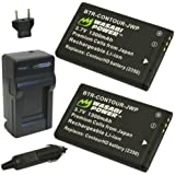 Wasabi Power Battery (2-Pack) and Charger for Contour 2350, 2450, 2900, C010410K and ContourHD, ContourGPS, Contour+, Contour+2