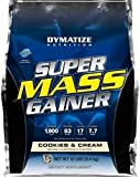 Dymatize Nutrition Super Mass Gainer, Cookies & Cream, 12 Pound