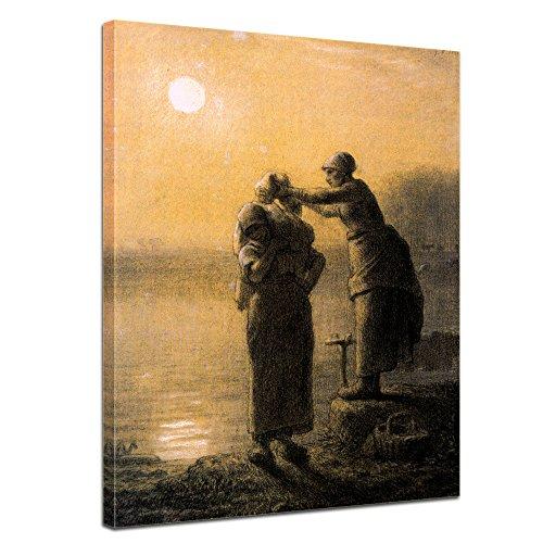 "Bilderdepot24 Leinwandbild Jean Siméon Chardin - Alte Meister ""Der Silberbecher"" 50x70cm - fertig gerahmt, direkt vom Hersteller"