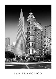 San Francisco Golden Gate | Two Towers on Columbus Street Art Print Poster