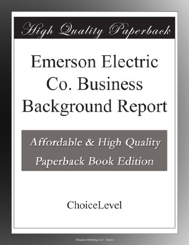 emerson-electric-co-business-background-report