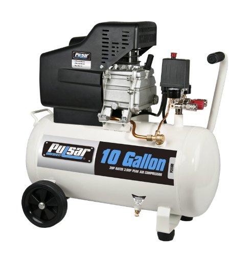 Pulsar PCE6100 Horizontal Electrical Air Compressor, 10-Gallon
