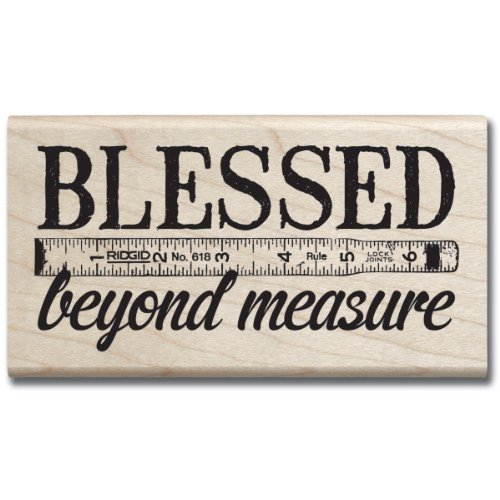 Hampton Art 7 Gypsies Blessed Beyond Measure Rubber Stamp
