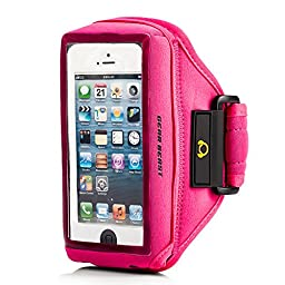 Gear Beast Case Compatible [Otterbox, Lifeproof, Speck, Other] Sport Gym Running Armband For iPhone SE, iPhone 5s, iPhone 5, iPhone 5c, iPhone 4s, iPhone 4 and iPod Touch 5G