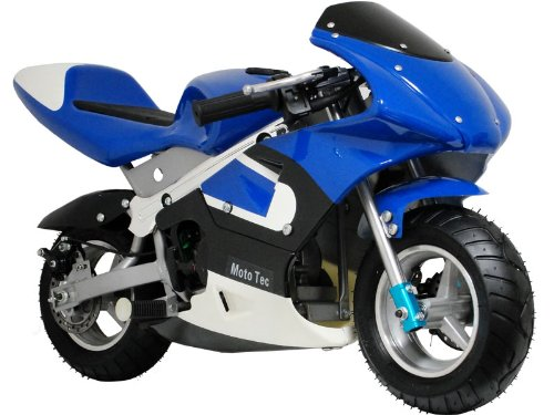 MotoTec Gas Pocket Bike - Blue