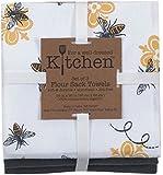Kay Dee Designs 3-Piece Cotton Flour Sack Towel Set, 26 by 26-Inch, Queen Bee