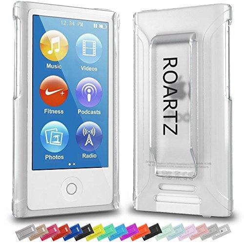 iPod Nano 7 Case, Roartz Clear Frost Ultra Slim Fit Case Premium Rubber Cover Belt Clip Shell For Apple iPod Nano 7 (Latest Generation)