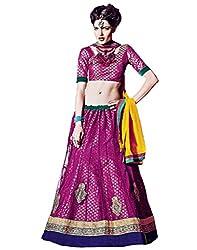 DesiButik's Wedding Wear Lovely Rani Net Lehenga