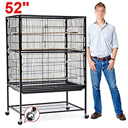 World Pride Large Play Top Bird Cage Parttot Finch Macaw Cockatoo Birdcages