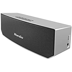 Bluedio BS-3 Portable Bluetooth Wireless Stereo Speaker (Silver)