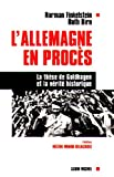 L'Allemagne en procès (French Edition) (2226104763) by Finkelstein, Norman G