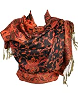 Silver Fever® Jacquard Paisley Pashmina Shawl Scarf Stole Double Sided