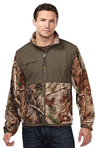 Tri-mountain Mens 100% Spun polyester Anti Pilling Fleece Jacket, - REAL TREE AP/OLIVE - X-Large