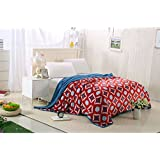 Berry Dual Sided Premium Mapple Blanket Multi*- Design Super Fine Fabricst Double Bed Size 230cm X 250cm Super Lite Super Soft Blanket(Made In India)(Pack Of 1 Piece)
