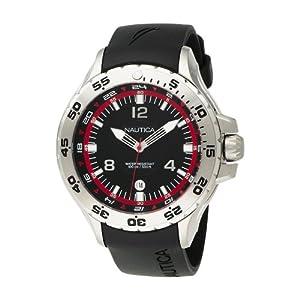 Nautica N12547G - Reloj de pulsera hombre, resina, color negro