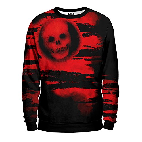 GEARS OF WAR Felpa Uomo - Skull Sweatshirt Man - Gears of War 4 Videogioco Microsoft Xbox One PC Windows Game T-Shirt