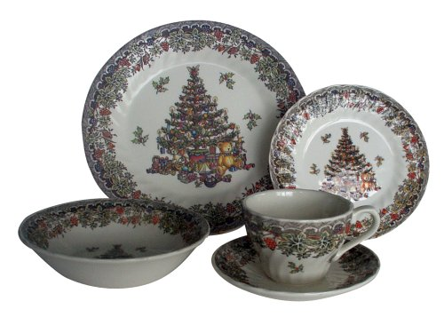 Churchill China Seasons Greetings Multi 20-Piece Dinner Set Service For 4