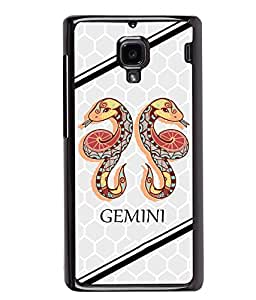 PrintVisa Metal Printed Gemini Designer Back Case Cover for Xiaomi Redmi 1S-D5013