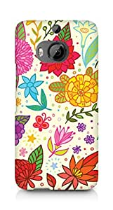 Amez designer printed 3d premium high quality back case cover for HTC One M9+ (Texture Bright Colorful Pattern)