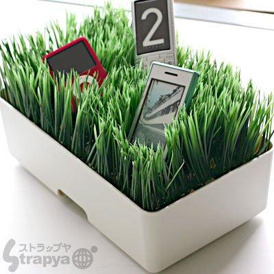 全米ギーク界ecoの衝撃★ThinkGeekの観葉植物風緑化充電ステーション - Grassy Lawn Charging Station -