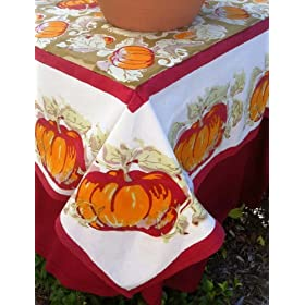 Pumpkin Green/Red Tablecloths