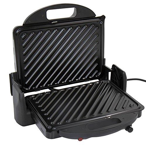 Grill contact électrique - pour panini, viande, poisson, légumes - puissance : 2000 W - testé par Eurofins-GS