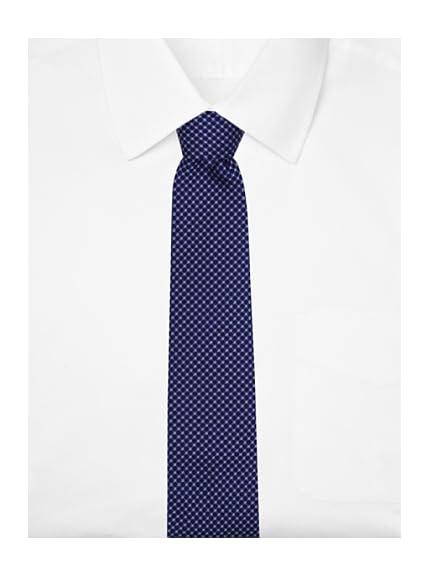 Yves Saint Laurent Men's Dotted Tie, Purple