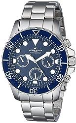 Adee Kaye Men's AK2322-BLU Marinaio Analog Display Japanese Quartz Silver Watch