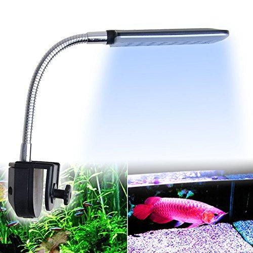 18-Weie-6-Blaue-24Leds-15W-LED-Aquarium-Klemmleuchte-Lampe-Licht-Fische-Tank-Beleuchtung-mit-flexiblem-Tastenschalter-fr-Aquarien-Fish-Tank