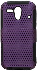 Eagle Cell Kyocera Hydro Edge/C5125 Hybrid TPU Cheese Case - Retail Packaging - Black/Purple