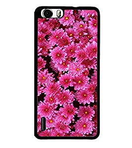 Pink Flowers 2D Hard Polycarbonate Designer Back Case Cover for Huawei Honor 6