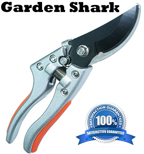 Heavy duty professional bypass pruner shear premium for Lightweight garden shears