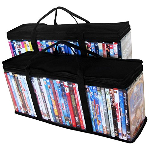 Evelots 2 Portable DVD Blue-Ray Media Storage Case Bags,Holds 72 Total, 36 Each (Movie Case Storage compare prices)