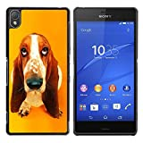 Paccase Hard Protective Case Cover Basset Hound  Pendant Ear Dog Sony Xperia Z3 D6603 D6633 D6643 D6653 D6616