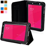 Snugg Galaxy Tab 2 7.0 Case - Smart Cover with Flip Stand & Lifetime Guarantee (Black Leather) for Samsung Galaxy Tab 2 7.0