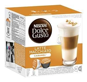 Nescafé Dolce Gusto Latte Macchiato Caramel, 3er Pack (48 Kapseln)