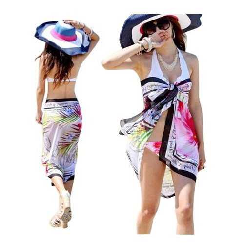 SODIAL(TM) Chiffon Sexy Wrap Dress Sarong Beach Scarf Shawl Dress Up Wrap