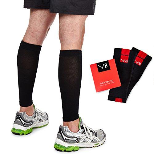 Leg Compression Sleeve. Treat Shin Splint Pain and Calf Strains. 20-25mmHg