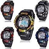ELEGIANT Herren Sport Armbanduhr, Stoppuhr, Wecker (Wasserdicht,Langlebige batterien, Luminous Anzeige)