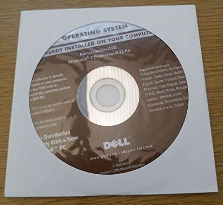 Dell Windows 7 Recovery Installation CD