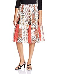 Rain and Rainbow Women's Skirt (S602-15/10-28_RED_Medium)
