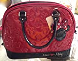 Disney Park Minnie Loves Mickey Mouse Large Red Purse Handbag with Dustbag NEW