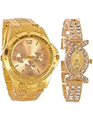 Gypsy Club GC-165 Couple Combo Analog Watch - For Men & Women