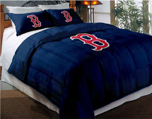 Boston Red Sox Comforter Set: Twin Comforter with Shams