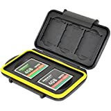 JJC MC-XQDCF5 Water-Resistant Tough Storage Memory Card Case Protector For 3 XQD + 2 CF Cards