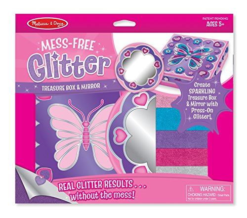 Melissa & Doug Mess Free Glitter - Treasure Box & Mirror