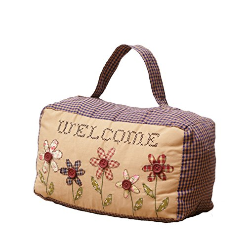 Your Hearts Delight Welcome Door Stopper, 11 by 5 by 6-1/2-Inch