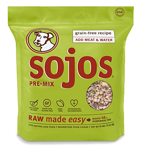 Sojos Pre-Mix Grain Free Freeze-Dried Raw Dry Dog Food Mix, 8-Pound Bag